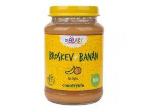 Dojčenská výživa BIO broskyňa a banán - 190g - Country life