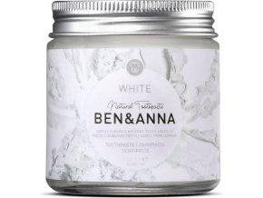 Prírodná zubná pasta v skle Ben & Anna White - 100ml - Ben & Anna