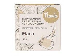 Tuhý Šampón s Kondicionérom – Maca (proti VYPADÁVANIU vlasov) - 25g - Navia
