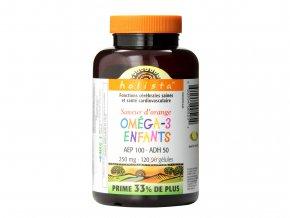Omega 3 žuvacie orange cukríky pre deti - 120ks - Webber