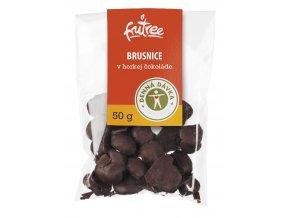 brusnice v horkej cokolade