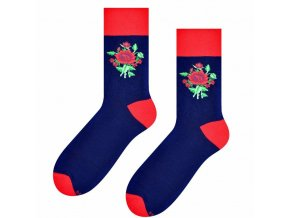 Jedna ruža, dve ruže ponožky modré