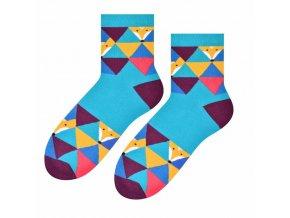 Skrotená líška ponožky modré