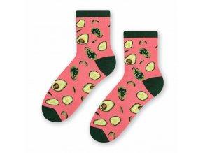 Rozverné avokáda ponožky ružové