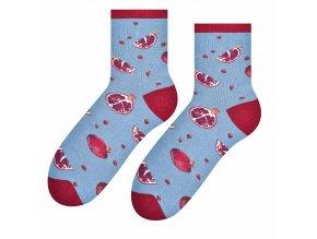 Trúfalé granátové jablká ponožky ružové