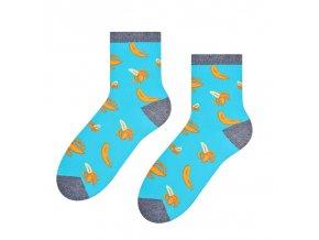 Funky banány ponožky modré