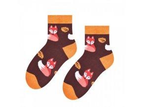 Líštička kmotrička ponožky hnedé