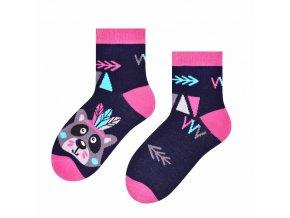 Statočná indiánka ponožky modré