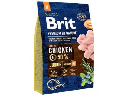 brit premium by nature dog junior m 3 kg 300x400