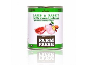 FARM FRESH KONZERVY FF LAMB RABBIT VEGETABLE ESHOP