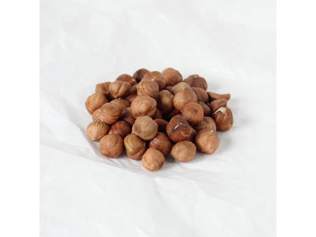 Lískové ořechy přírodní neloupané