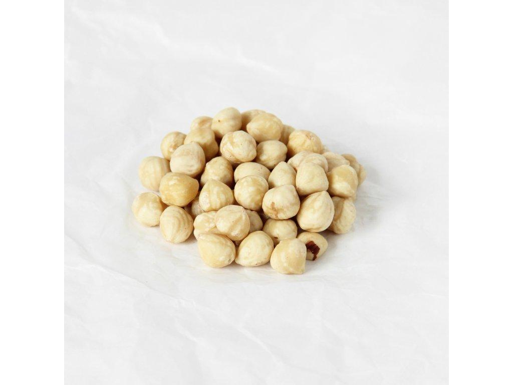 Lískové ořechy blanšírované lehce pražené