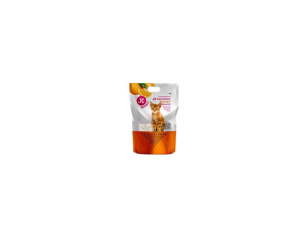 59142 4 jk animals litter silicagel orange 4 3 kg 10 l 0