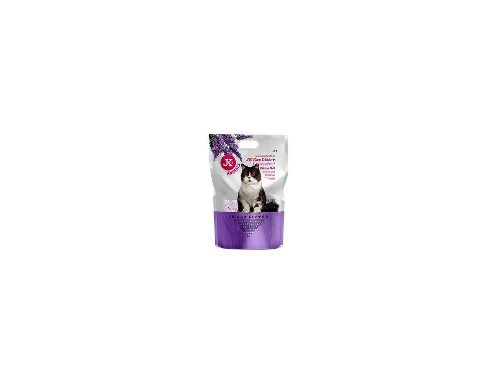 59142 3 jk animals cat litter lavender silica gel 4 3 kg 10 l 0