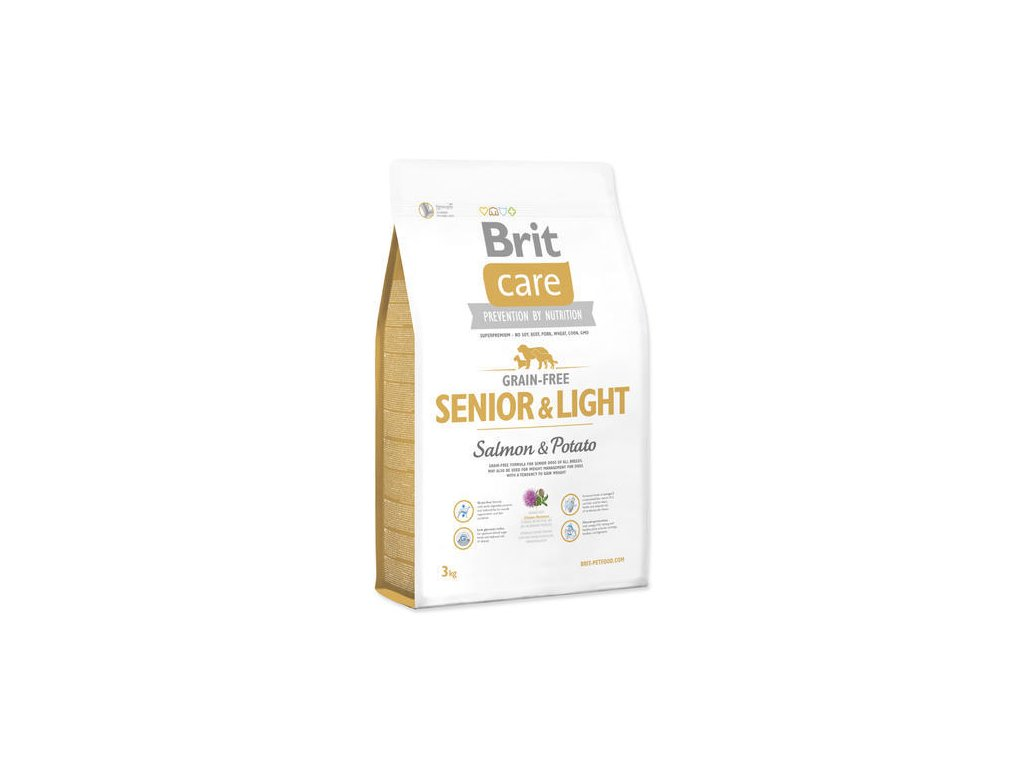 Brit Care Dog Senior-Light salmon-potato 3kg