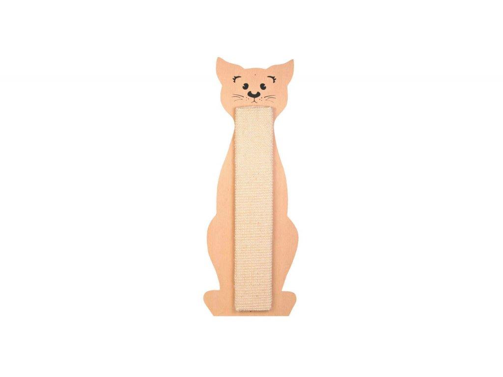 Škrabadlo tvar kočka přírodní/béžové 21x58cm