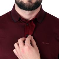 Detail zpracování knoflíčků u polo košile Feratt