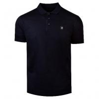 Černá polo košile s designovou nášivkou