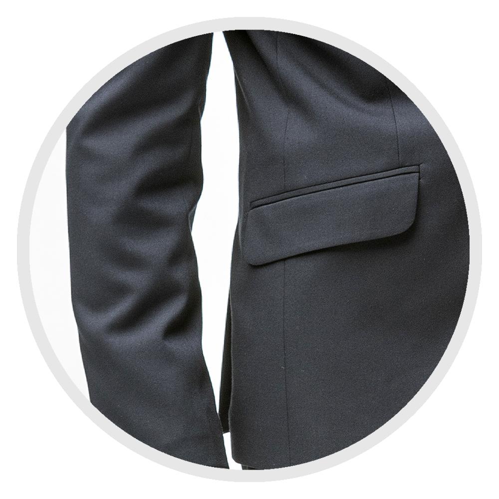 střih pánského obleku Feratt