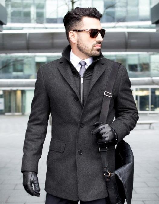 Zimní kabát z vlny