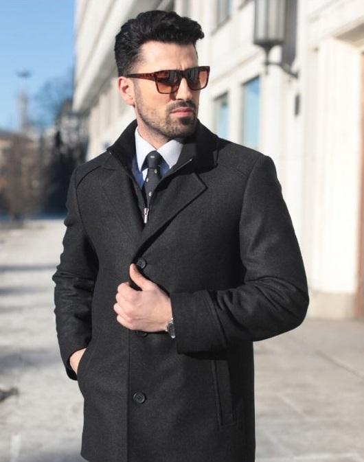 Celoroční vlněný kabát FERATT