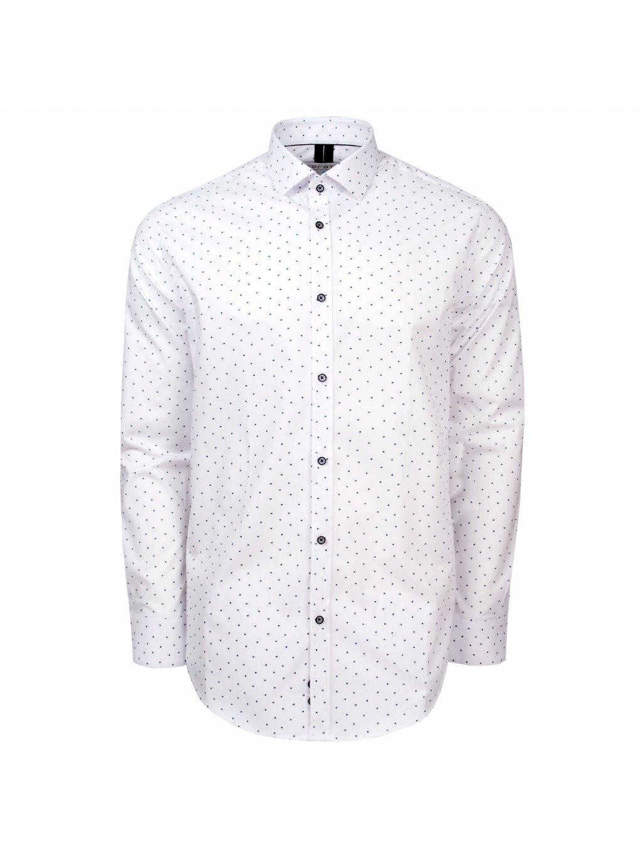 Pánská košile FERATT VALERIO bílá modrý microprint