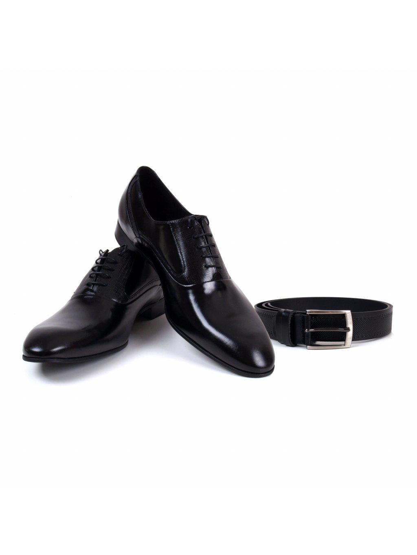 boty FERATT černé + opasek klasik černý
