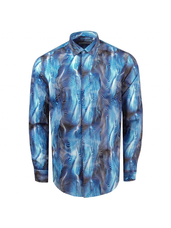 košile RAINBOW Slim fit modrá