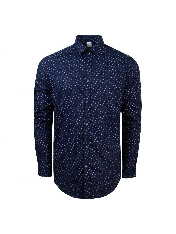 košile MATTHEW Modern. tm. modrá