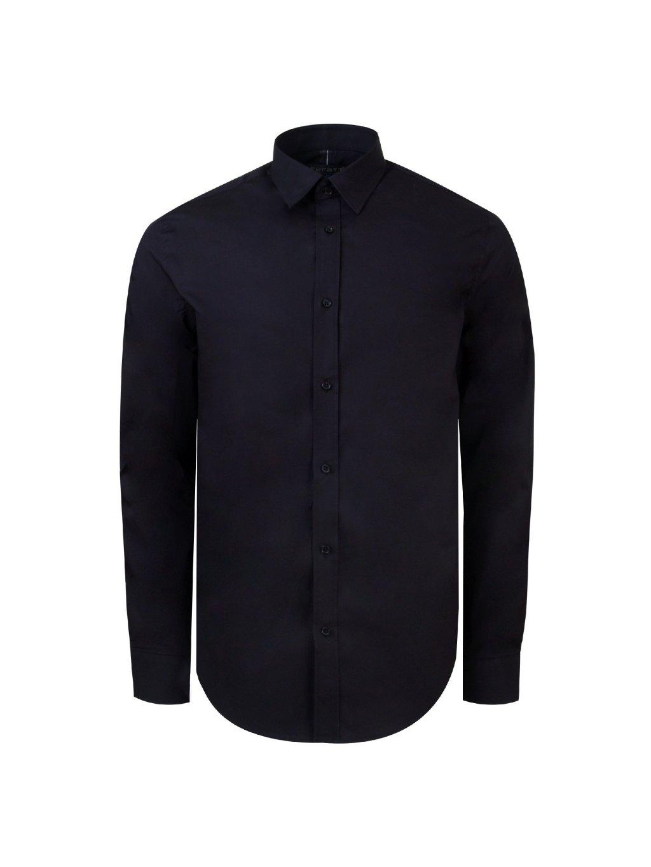 pánská košile FERATT BLACK SLIM stretch