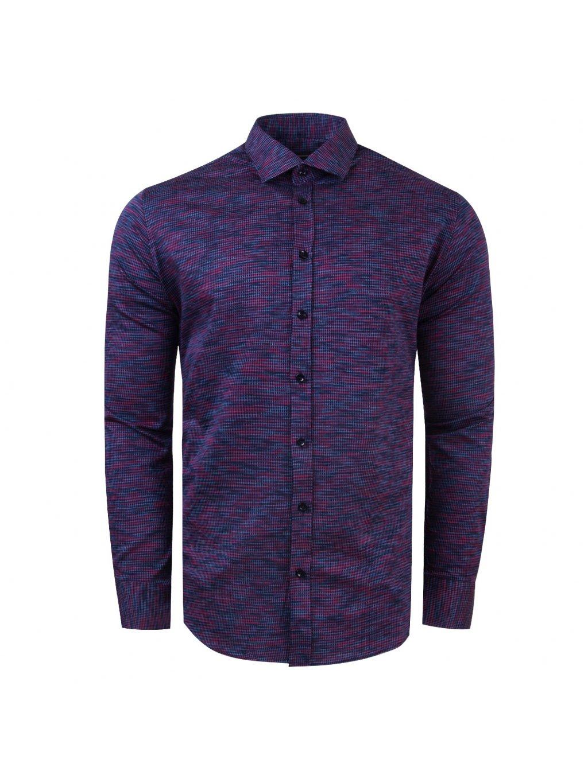 košile CHARLIE Slim fit modrofialová