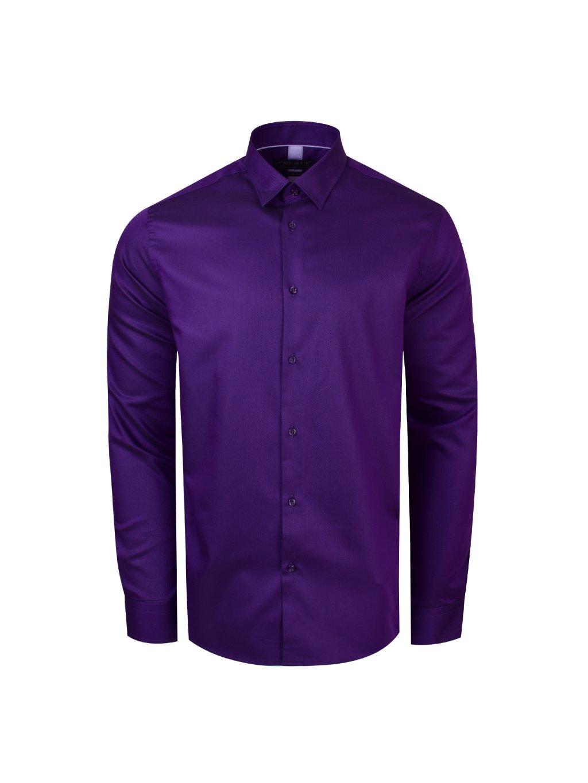 dd7e0e73335e košile BASIC COLOR fialová - PÁNSKÁ MÓDA