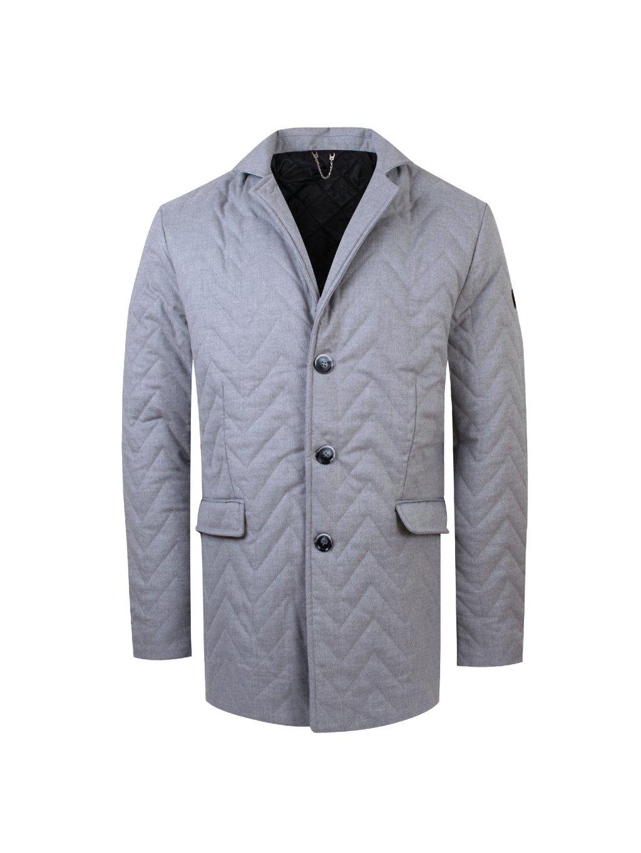 Pánský zimní kabát DARIO - sv. šedý