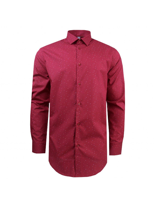 košile PHILIP Modern bordó