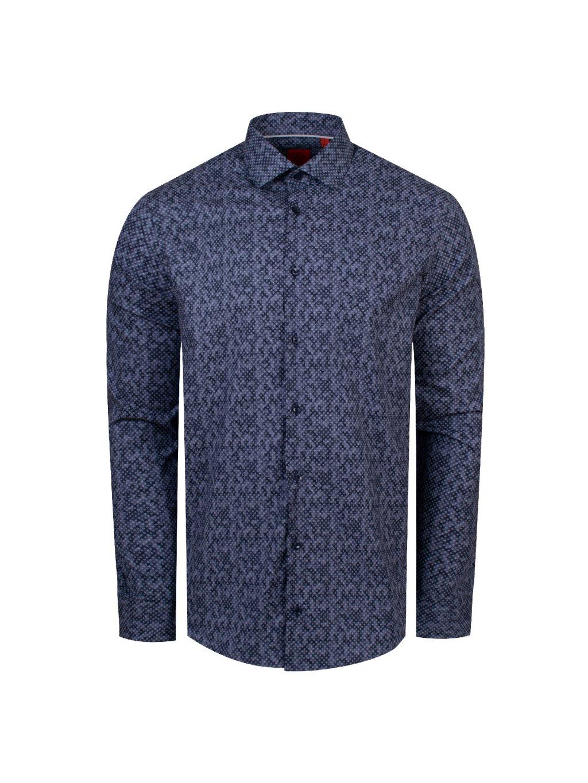 pánská košile FERATT CUBES Slim šedomodrá