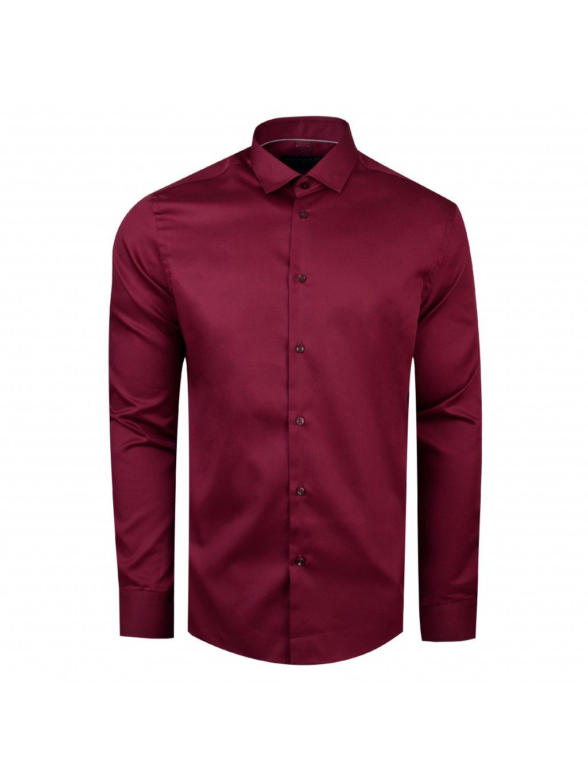 Pánská košile FERATT F-LINE Modern bordo