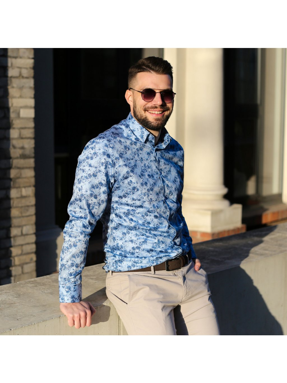 Pánská košile FERATT IMBALI Modern sv. modrá