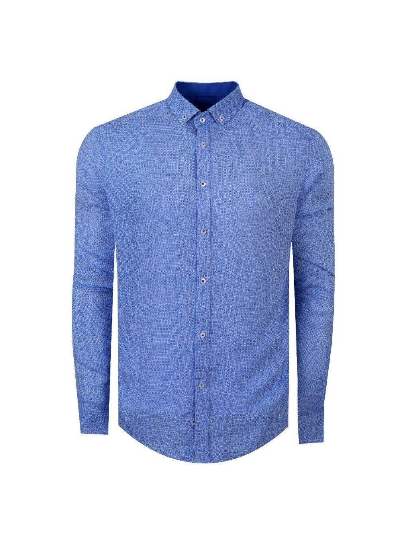 košile DAN Regular světle modrá
