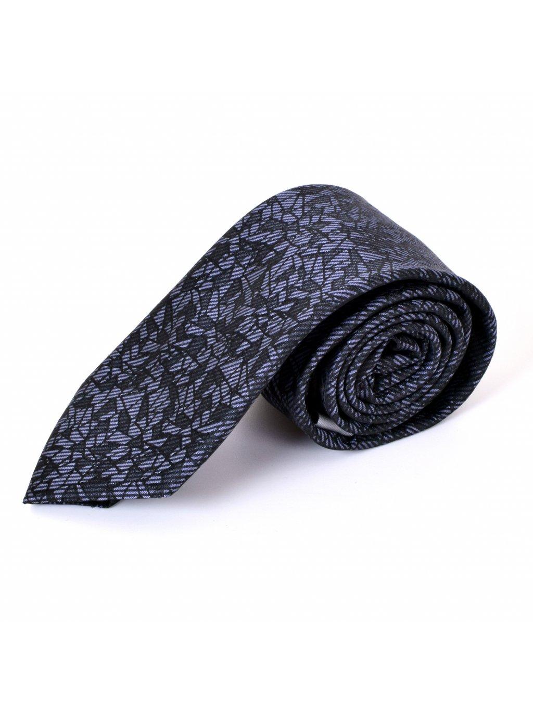 Kravata tmavě šedá F48