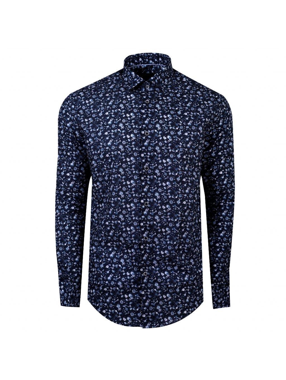 košile IMBALI Modern šedomodrá
