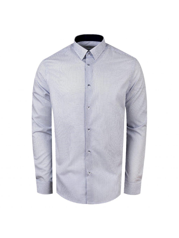 košile MILANO ll Reg. bílá modrý vzor