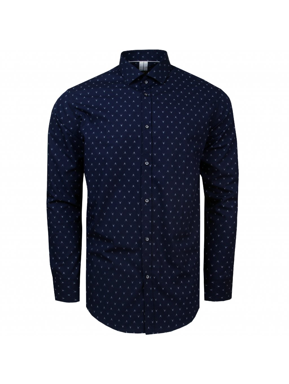 košile ANCHOR Modern tm. modrá