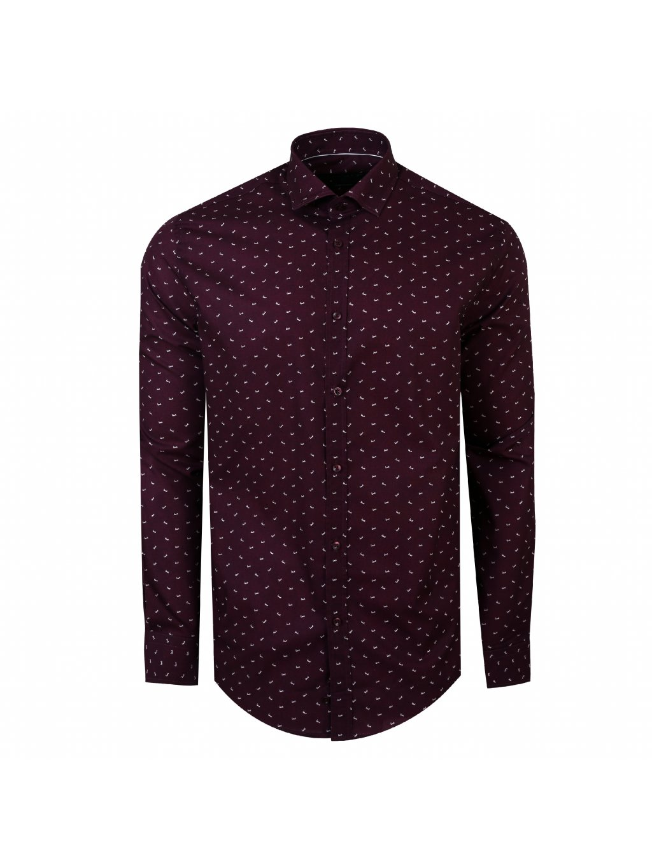 Pánská košile FERATT LOVE Modern bordó