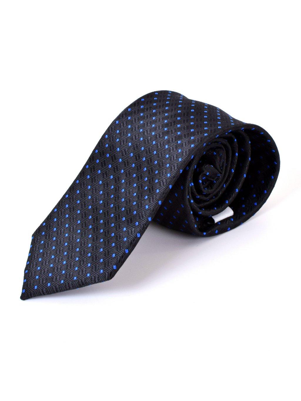 Kravata černá se vzorem F72