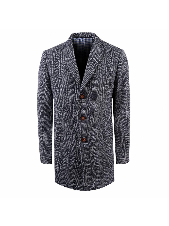 Pánský kabát BOLZANO - šedočerný