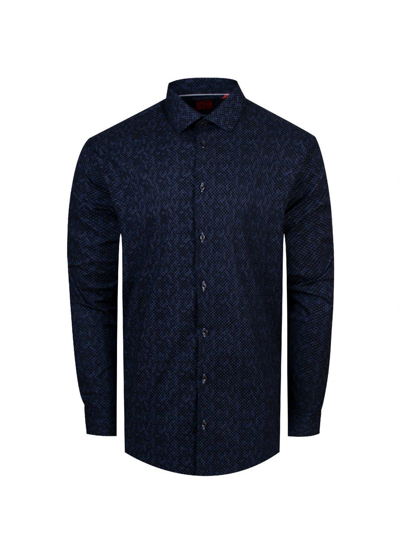 pánská košile FERATT CUBES Regular tm. modrá