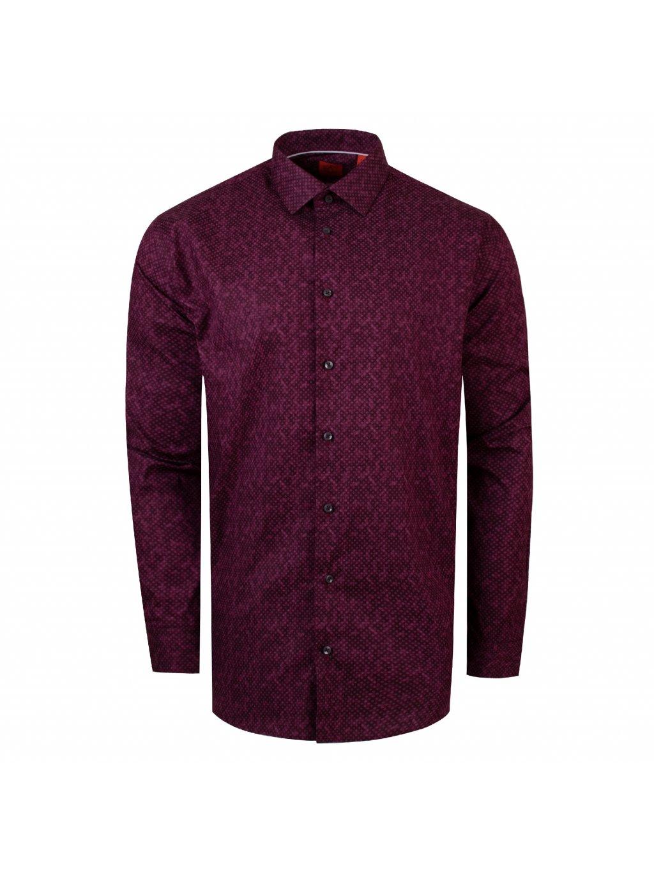 pánská košile FERATT CUBES Regular vínová