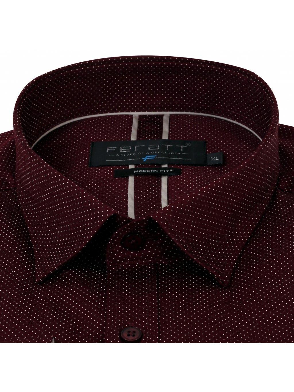Pánská košile FERATT KAMIL Modern bordó