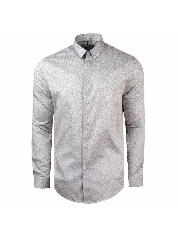 košile VITTORIO Slim šedá