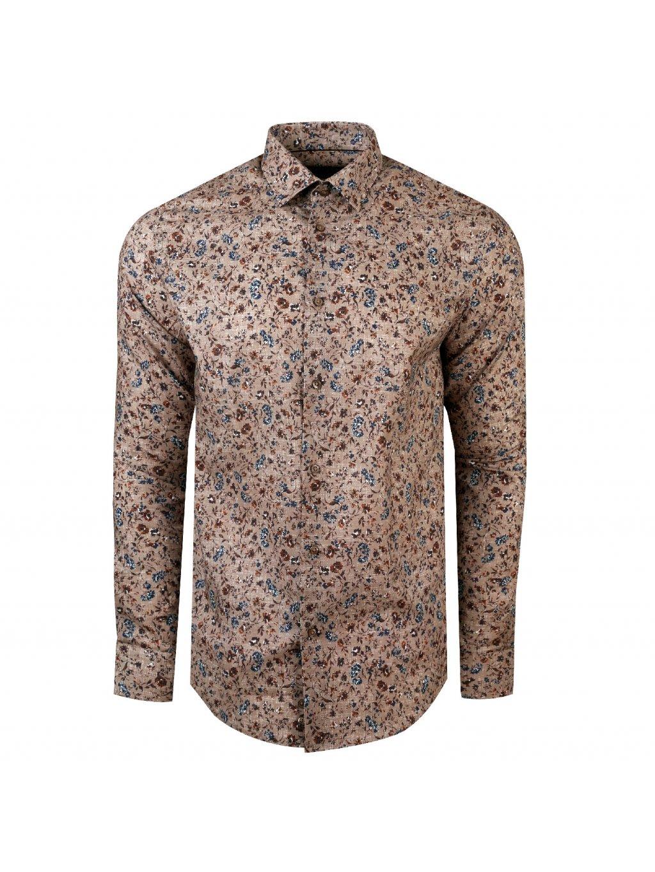 Pánská košile FERATT FIORE Slim hnědá
